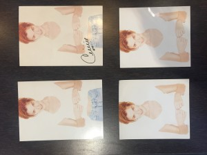Celine Dion cards from the international fan club.